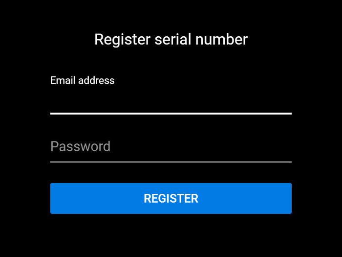 Step 2 of serial registration
